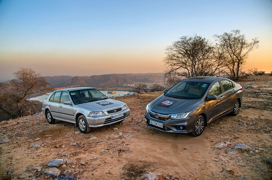 The first and the latest generation of Honda City with Ja...