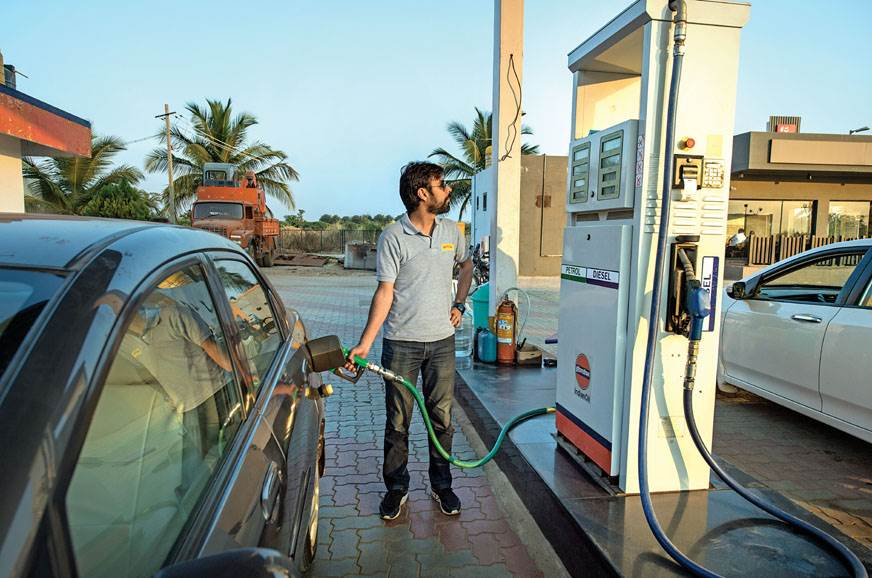 When the pump attendant gets lazy, Rahul gets going.
