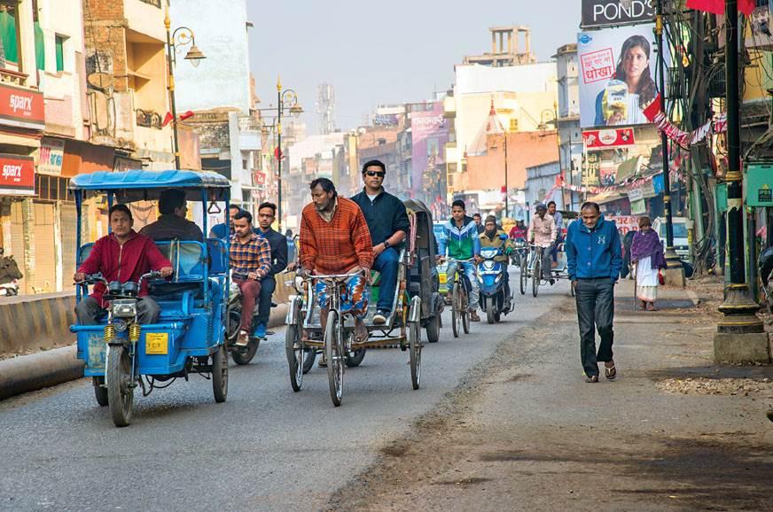 Varanasi is the wrong place to drive a car, so I hopped o...