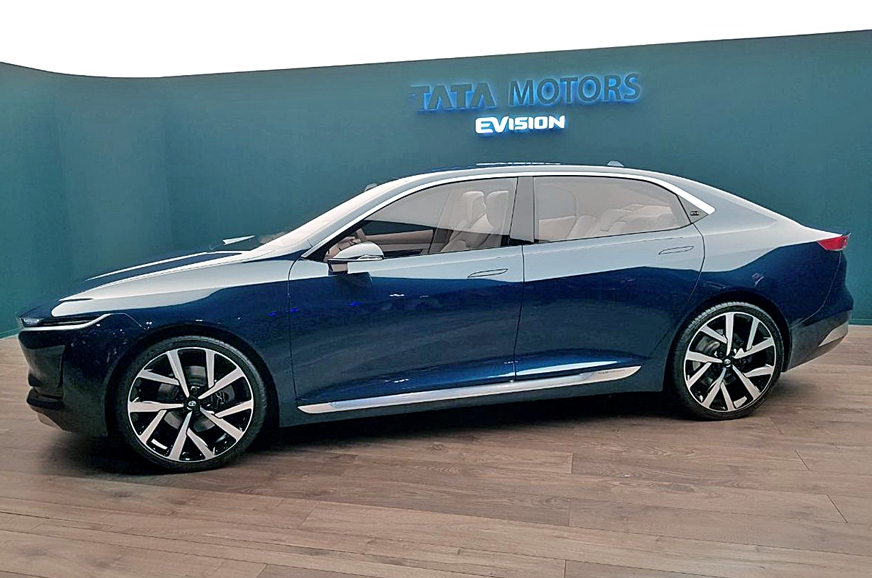 Its built on an EV derivative of Tata's Omega platform.