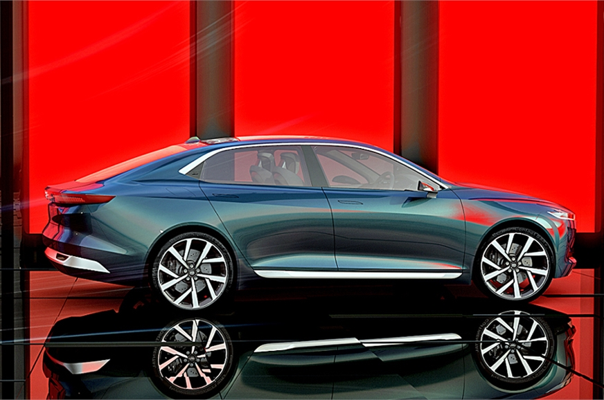 The shape is more fastback than traditional sedan.