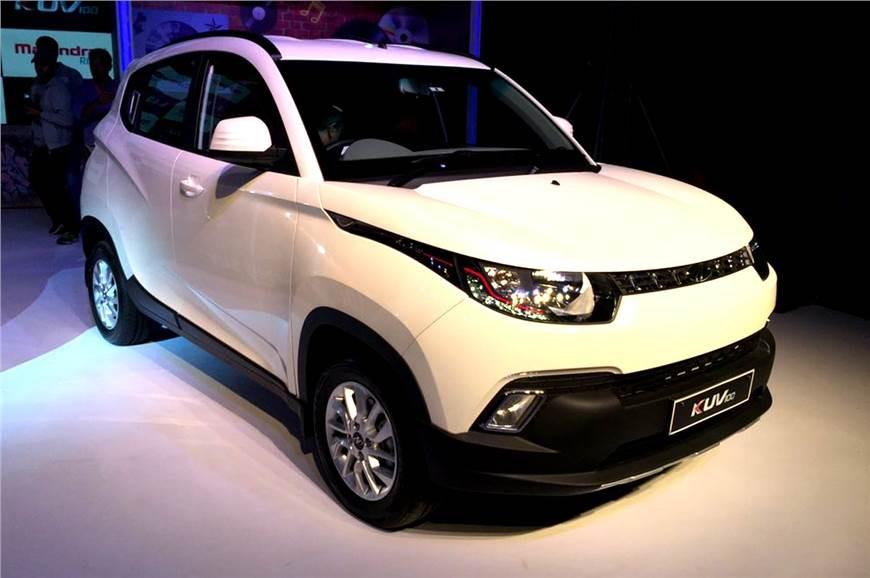 Mahindra KUV100 pre-facelift model.