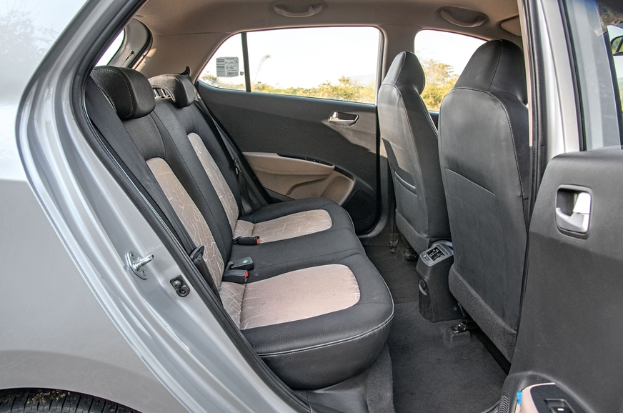 Rear-seat backrest angle on the Hyundai is better; seat i...