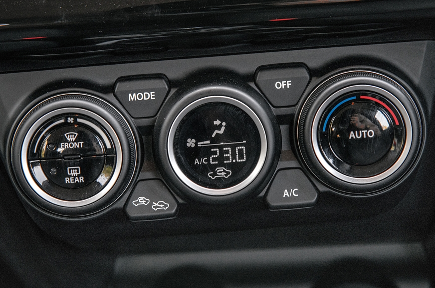 Auto climate control's display looks premium on the Swift