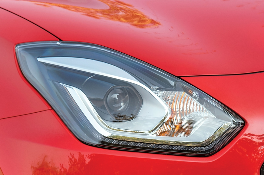 Auto-LED projector headlamps on the Swift.