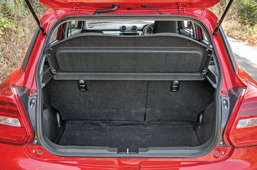 At 268 litres, the Swift's capacity is larger. Loading li...