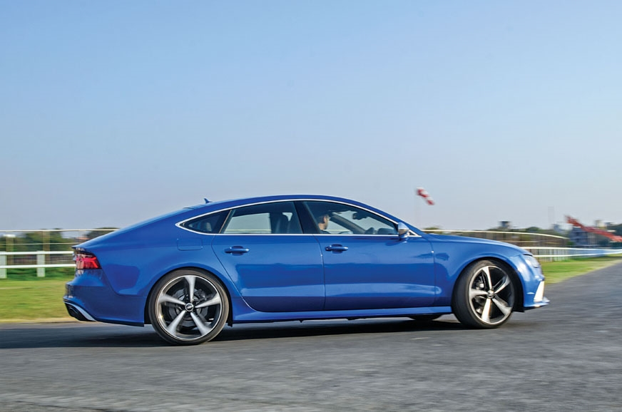 The RS7's cylinder-on-demand system shuts down four cylin...