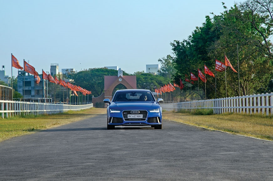 The RS7 grunts like a tiger at part-throttle and has a re...