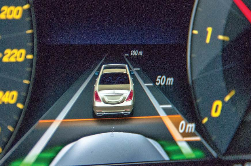 Distronic system useful on a busy expressway.