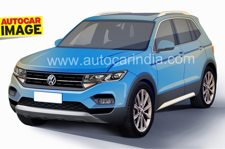 Volkswagen's midsize SUV will borrow design cues from the...