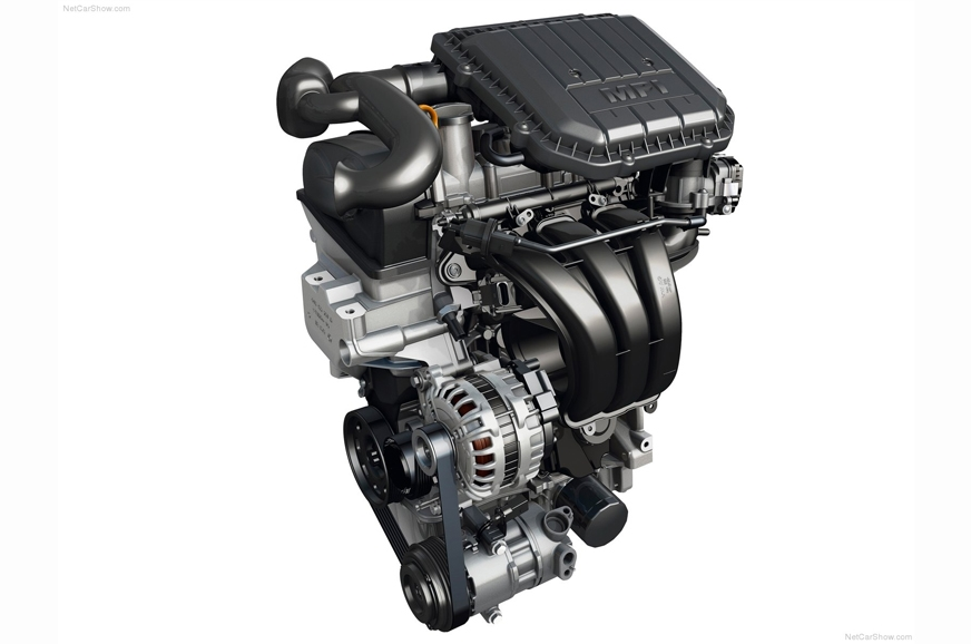VW's 1.0-litre naturally aspirated petrol engine.