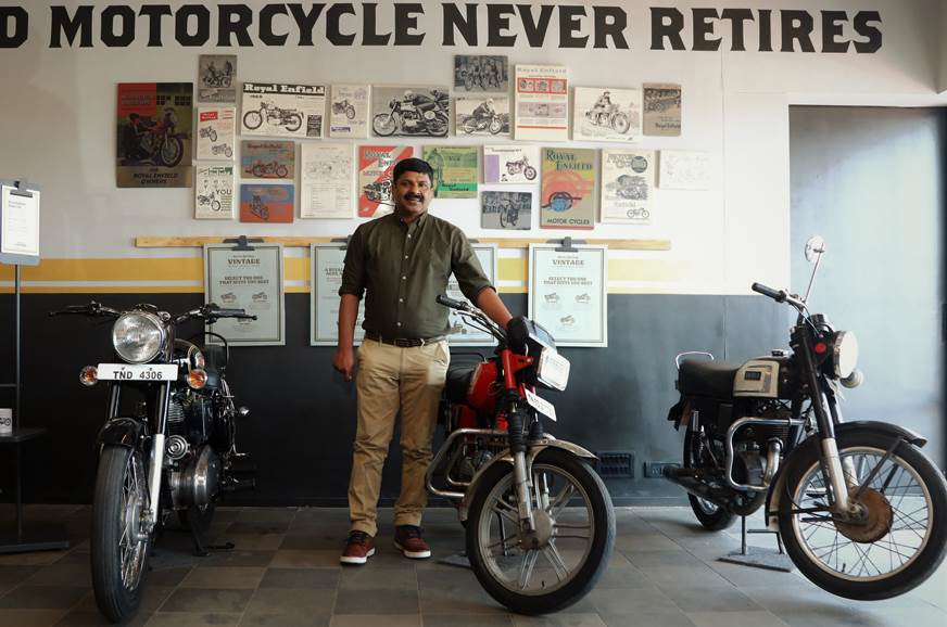 Shaji Koshy, Royal Enfield at the launch of the first Vintage Store in Chennai.