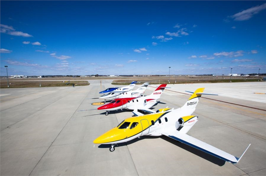 The HondaJet is 12,990mm long and has a wingspan of 12,12...