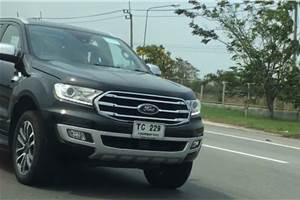 Ford Endeavour facelift spied in Thailand