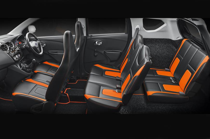 All seven seats on the special edition Go+ get a dual-ton...