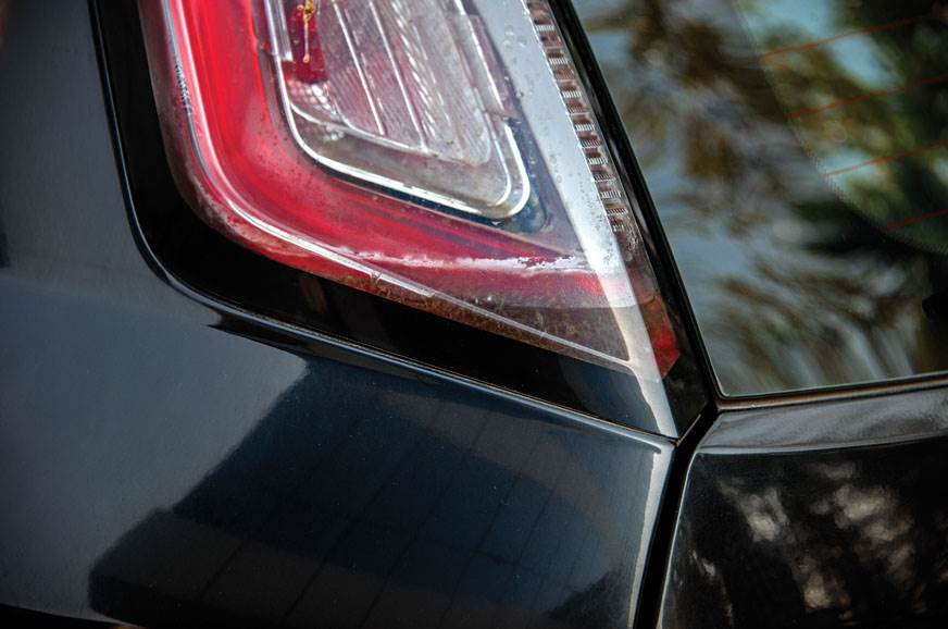 WATER WORKS: Poor quality tail-lights let in water, which...