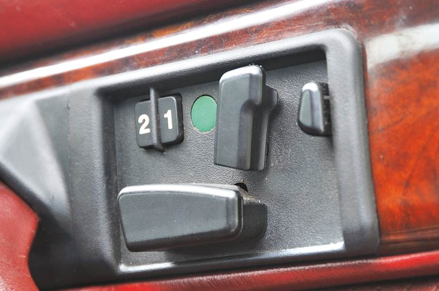 Seat adjusters on doors started with the W126.