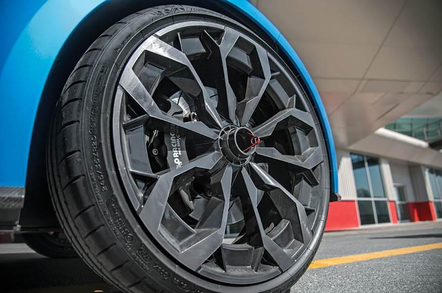 Grippy Michelin rubber on massive 20-inch wheels.