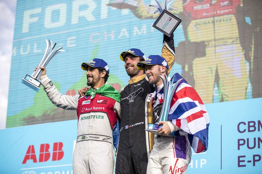 Vergne defeats di Grassi to win Punta del Este ePrix