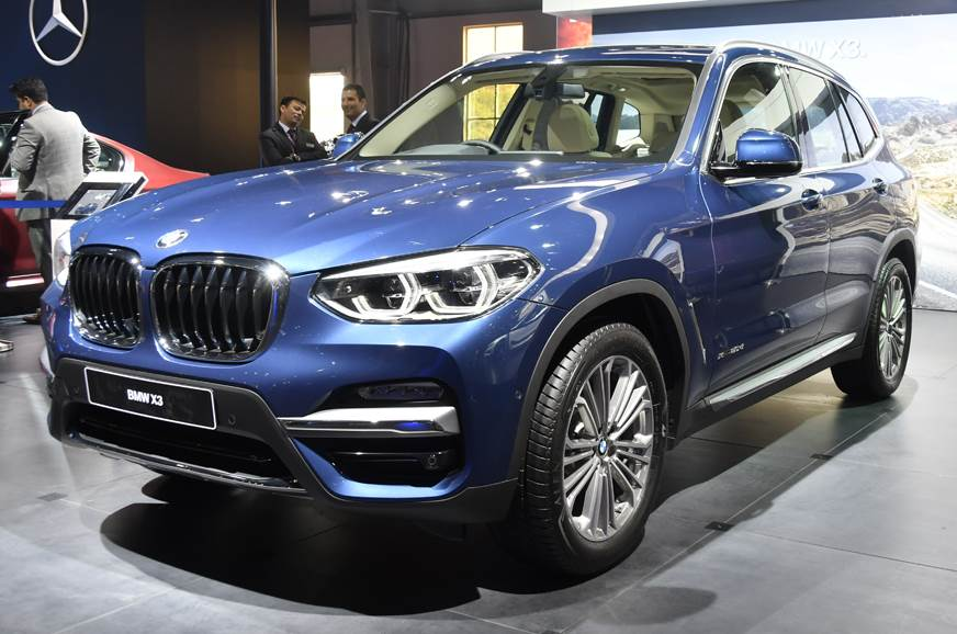 The BMW X3 showcased at Auto Expo 2018.
