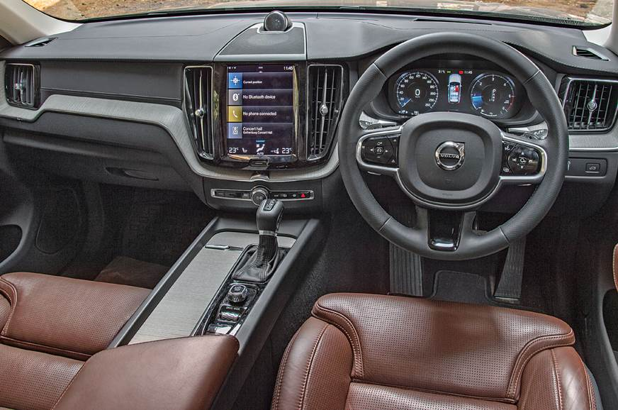 Volvo has a classy and well-built cabin and the vertical ...