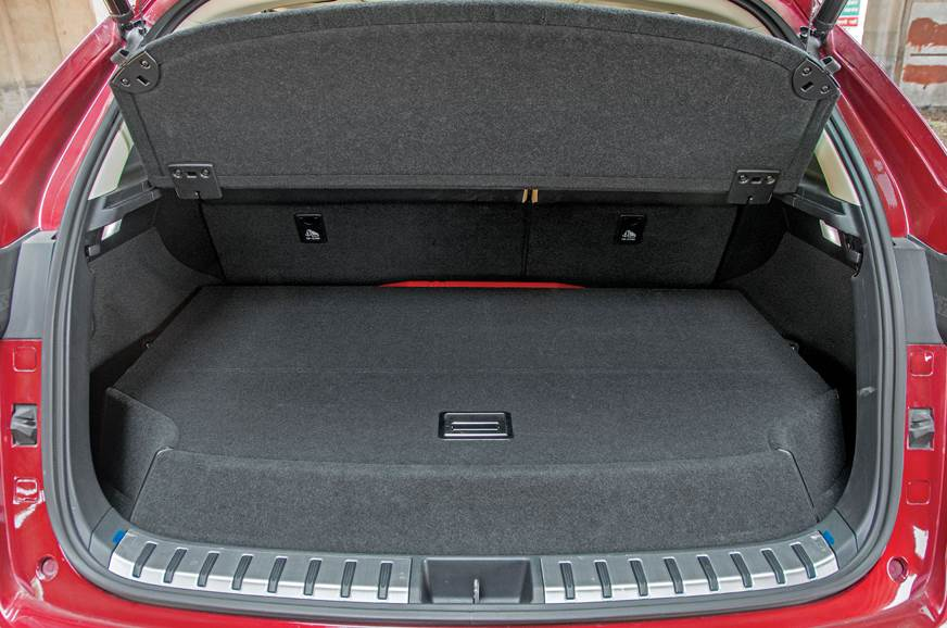 On the Lexus, the 475-litre boot houses a full-size spare...