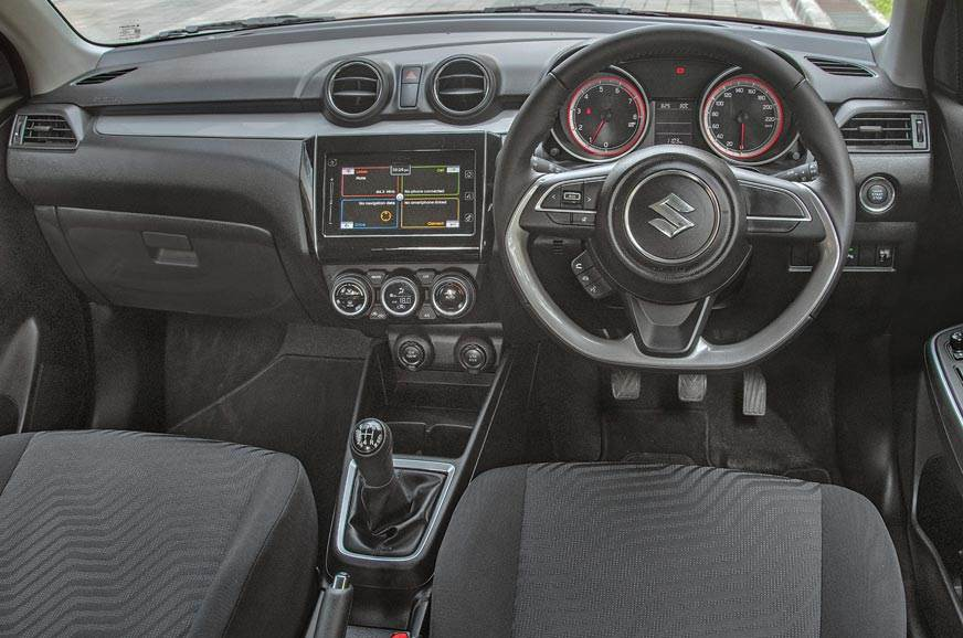 Swift shares neat dashboard with Dzire but with detail di...