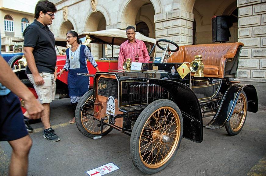 Abbas Jasdanwalla's 1903 Humber was the oldest car at the...