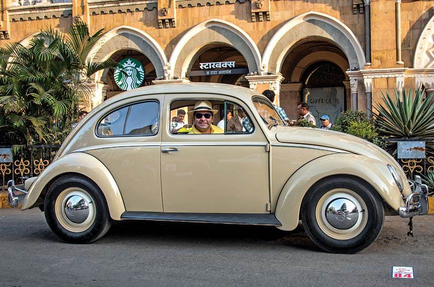 This was our ride: a 1956 Beetle restored to original spec.