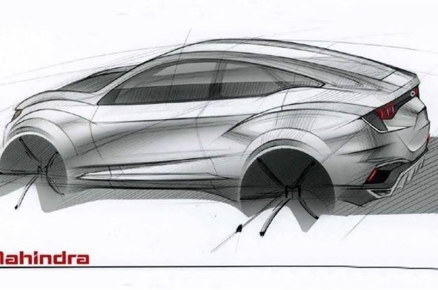 Mahindra XUV Aero Concept sketch for representation only.