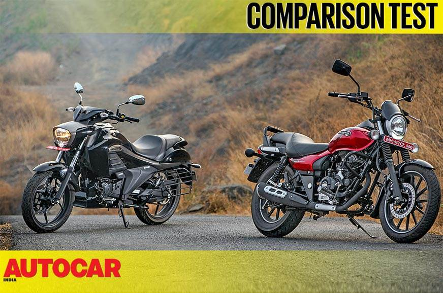 2018 Bajaj Avenger Street 180 vs Suzuki Intruder ABS comparison video