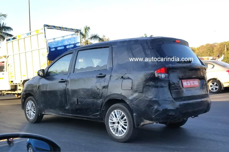 The Ertiga that was spied testing near Delhi.