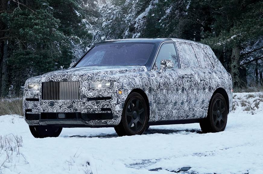 Rolls Royce Cullinan tests to be on social media ahead of launch