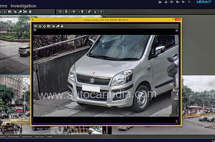 How an e-challan is generated 2: A zoomed-in image captur...