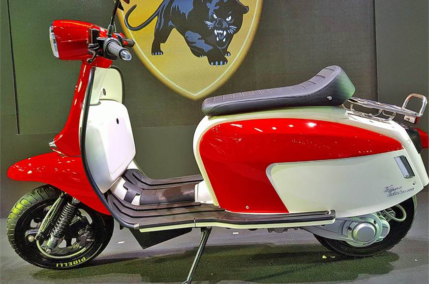Styling is inspired by the erstwhile Lambretta GP series