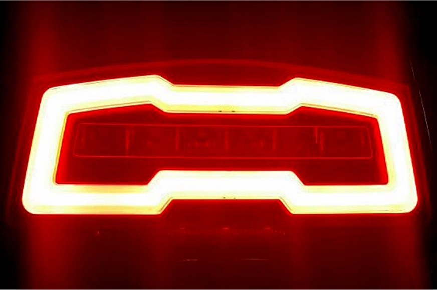 LED tail-light is of the continuous glow type. Audi, much?