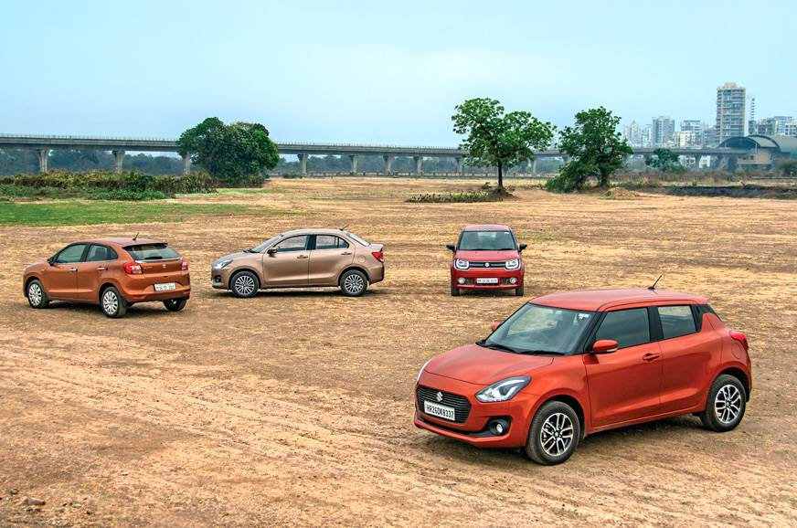 Maruti Suzuki Swift vs Baleno vs Dzire vs Ignis