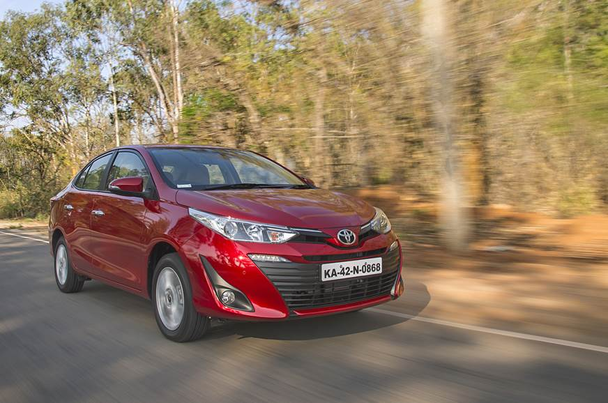 Toyota Yaris has a slightly stiff suspension that allows ...
