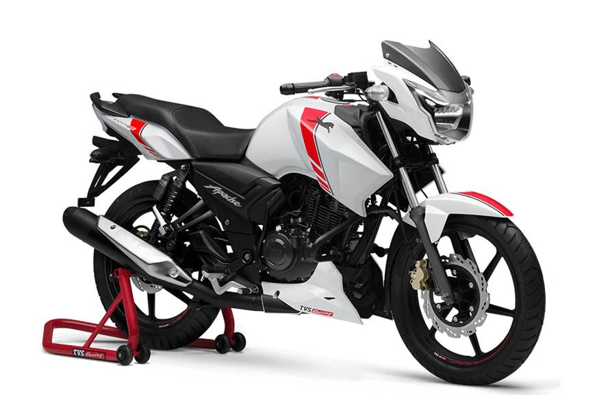 TVS Apache RTR 160 White Race Edition launched at Rs 79,715