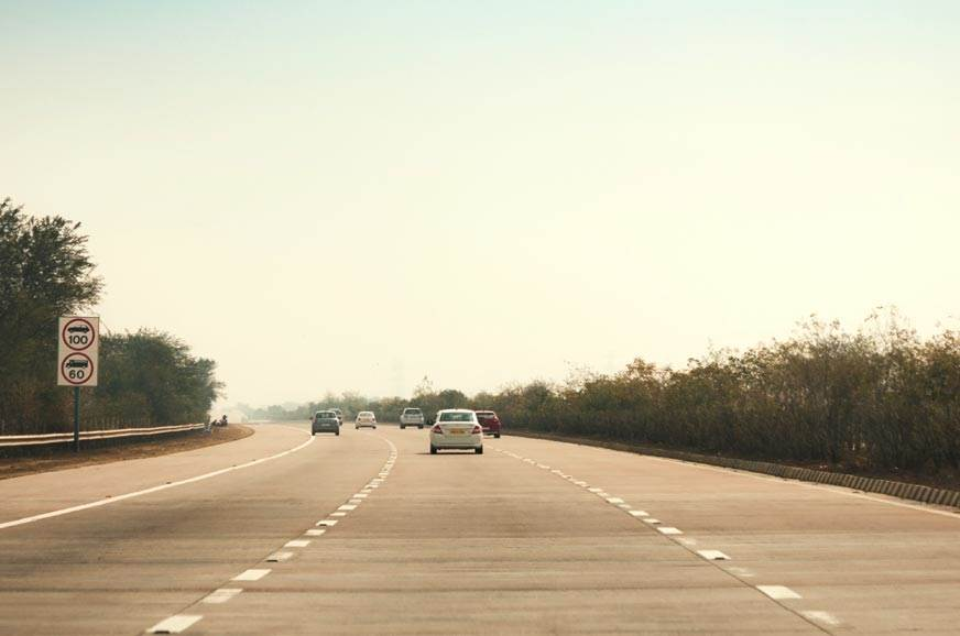 The speed limit on this section of the Yamuna Expressway will be increased to 120kph.