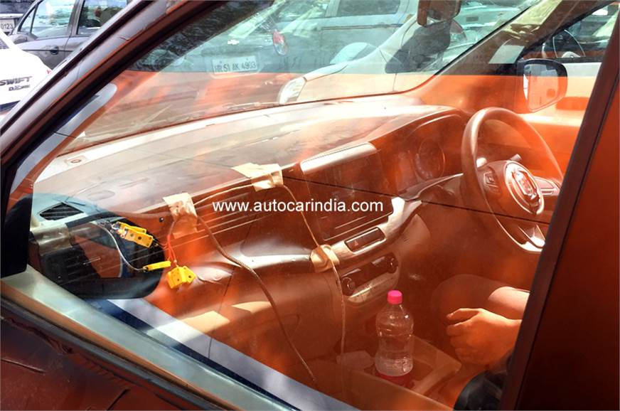 New Maruti Ertiga India-spec model interior spy shot.