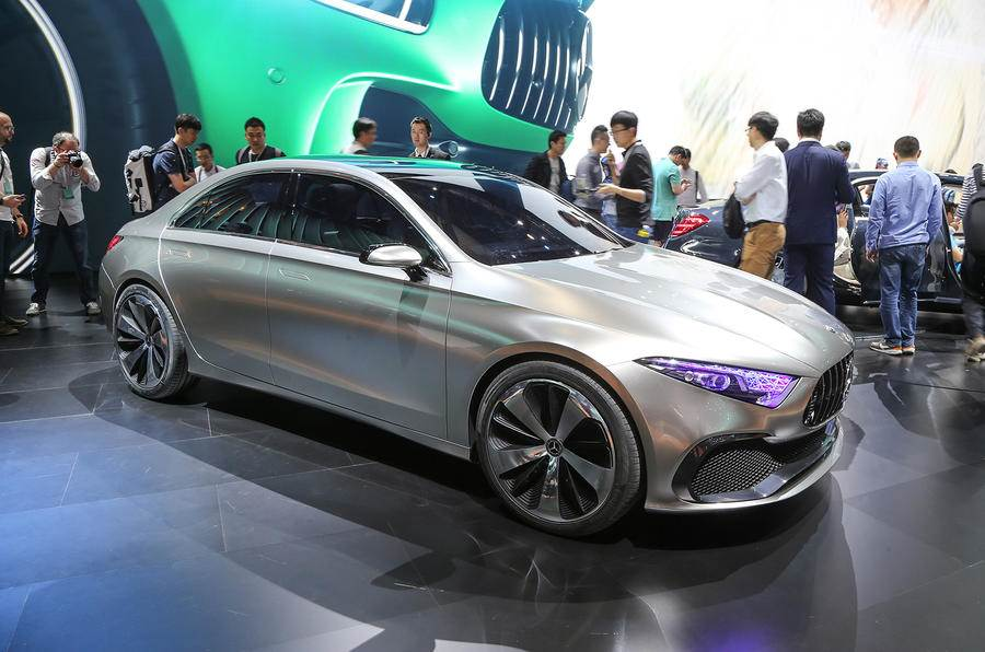 Mercedes A-class sedan takes shape