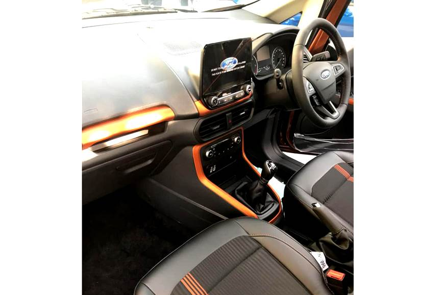Ford EcoSport Titanium S interior. Note 9-inch infotainme...