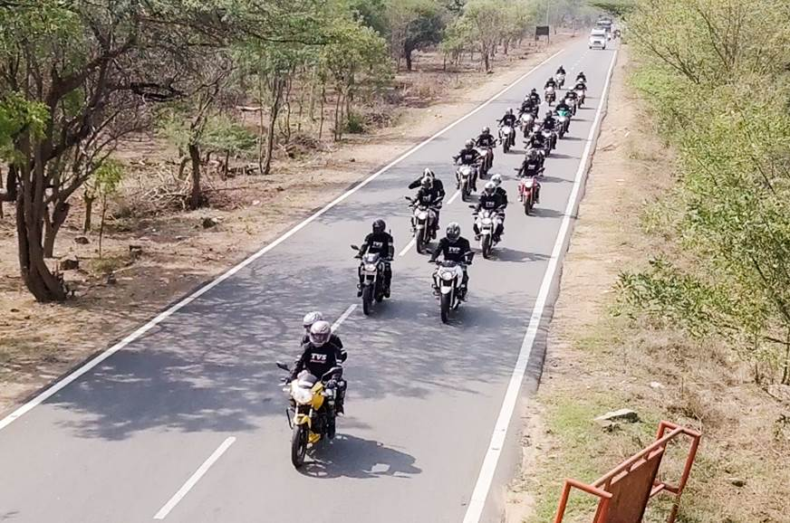 TVS concludes first Apache Owners Group ride