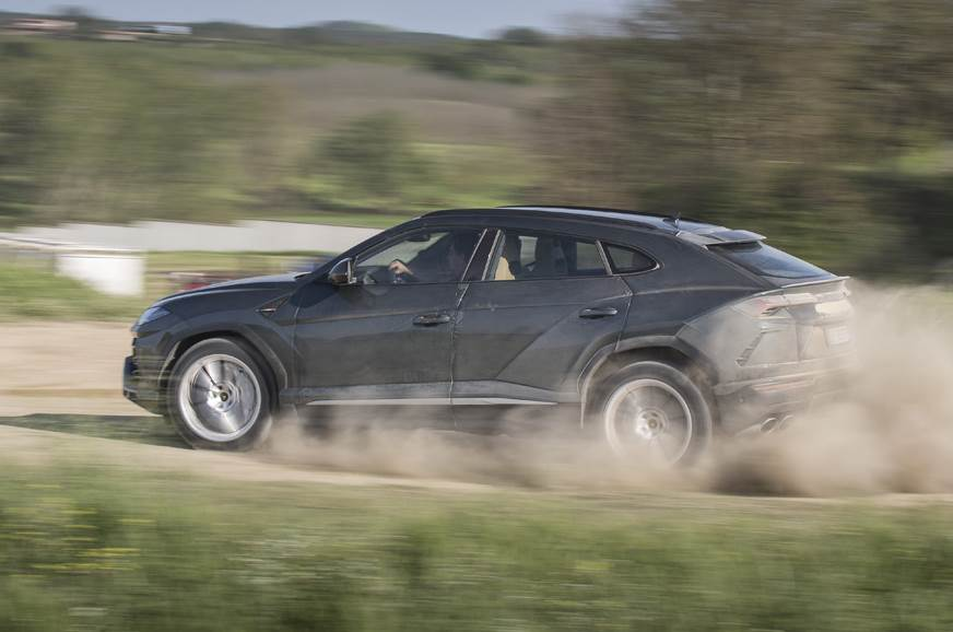 The Urus is a whole lot of fun on a dirt road; goes sidew...
