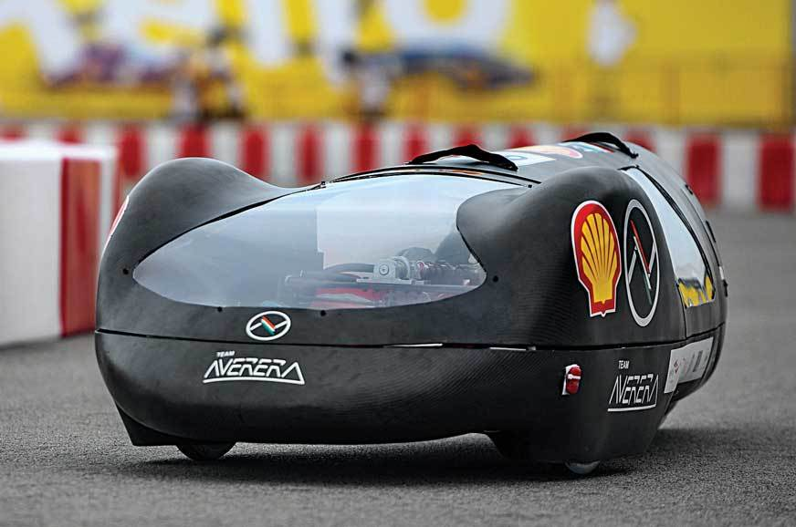 This car with a carbon-fibre based body weighs just 35kg;...