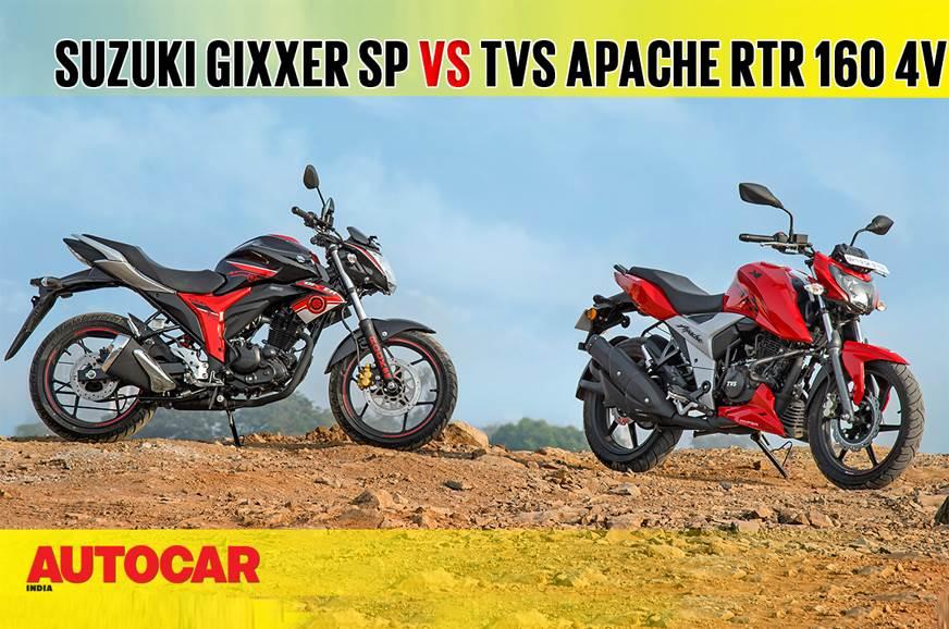 2018 TVS Apache RTR 160 4V vs Suzuki Gixxer SP comparison...