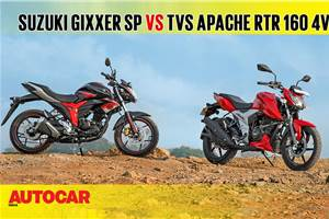 2018 TVS Apache RTR 160 4V vs Suzuki Gixxer SP comparison video