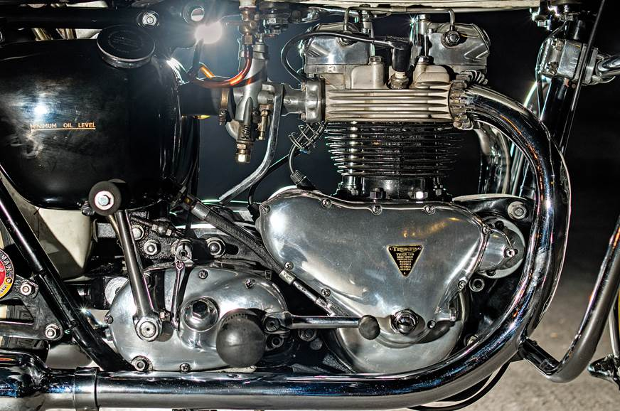 The 649cc, twin-cylinder motor employed a single carb, bu...