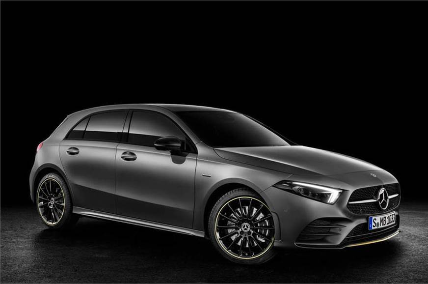 The A-class hatchback revealed before the previous Geneva...
